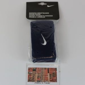 Nike Swoosh Wristbands Doublewide Double Wide Pair